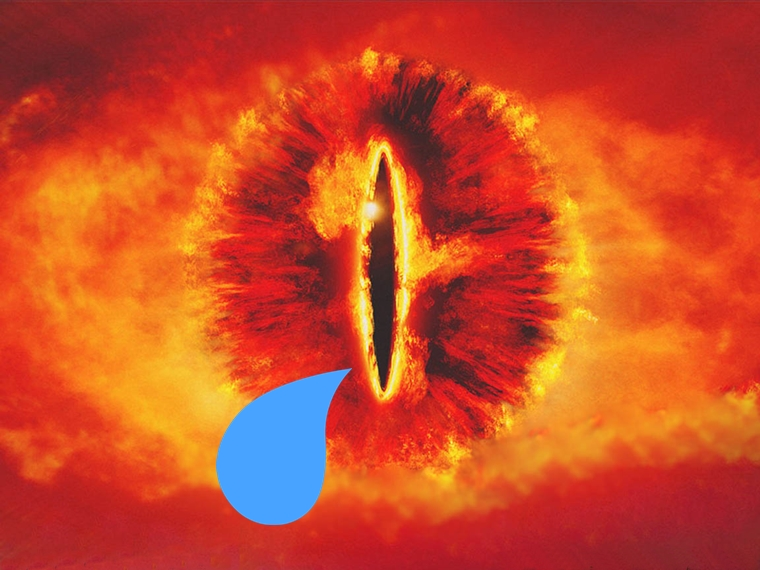 lords of the rings hayranları kayıp yüzük sauron ağlıyor crying sauron tear