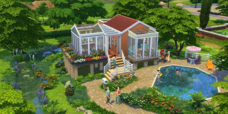 The Sims 4 küçük evler paketi görseli
