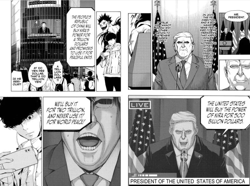 donald trump death note açıklama manga
