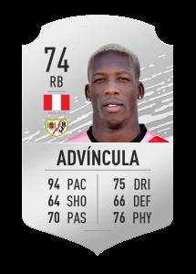fifa20 En Hızlı Oyuncular Advincula