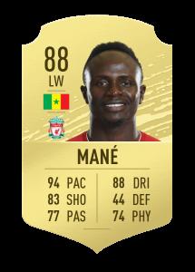 fifa20 En Hızlı Oyuncular Mane