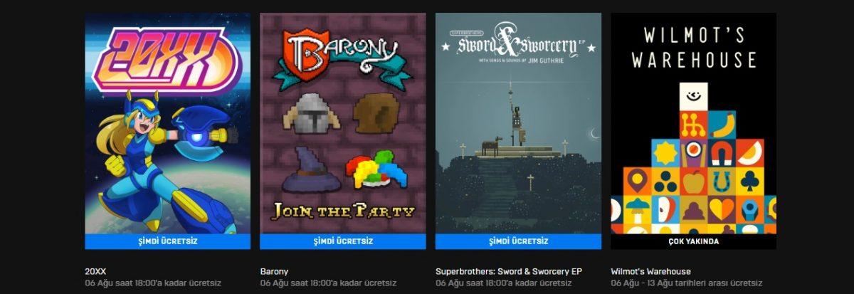 epic games store 3 ücretsiz oyun listesi