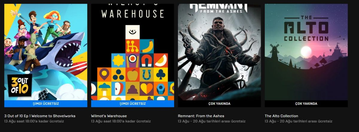 Epic Games'in Yeni Ücretsiz Oyunu - 13 Ağustos