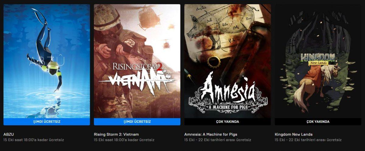 Epic Games'in Yeni Ücretsiz Oyunu Belli Oldu (15 Ekim)