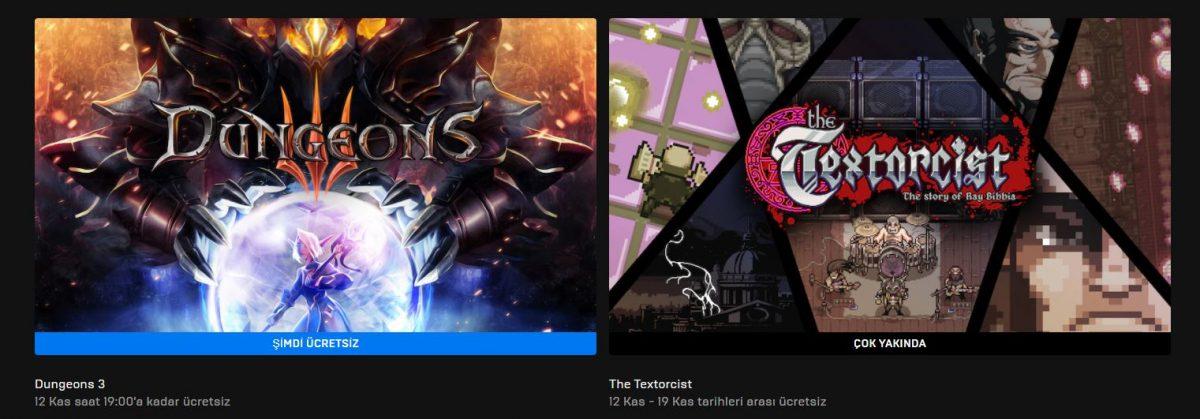 Epic Games'in Yeni Ücretsiz Oyunu 12 Kasım