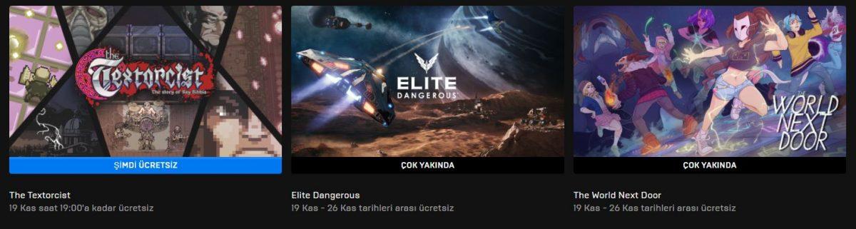 Epic Games'in Yeni Ücretsiz Oyunu Belli Oldu (19 Kasım)