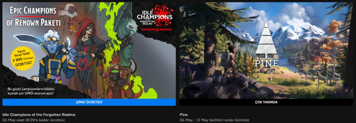 Epic Games'in Yeni Ücretsiz Oyunu Belli Oldu (06 Mayıs)