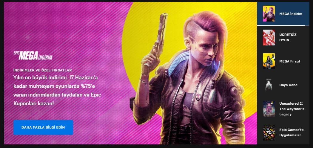 Epic Games Mega İndirim 2021