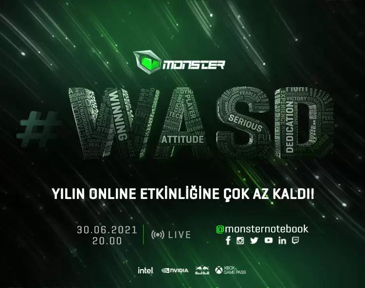 Monster Notebook #WASD Etkinliği Başlıyor!