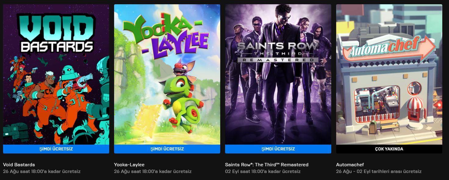 Epic Games'in Ücretsiz Oyunu Belli Oldu (26 Ağustos)