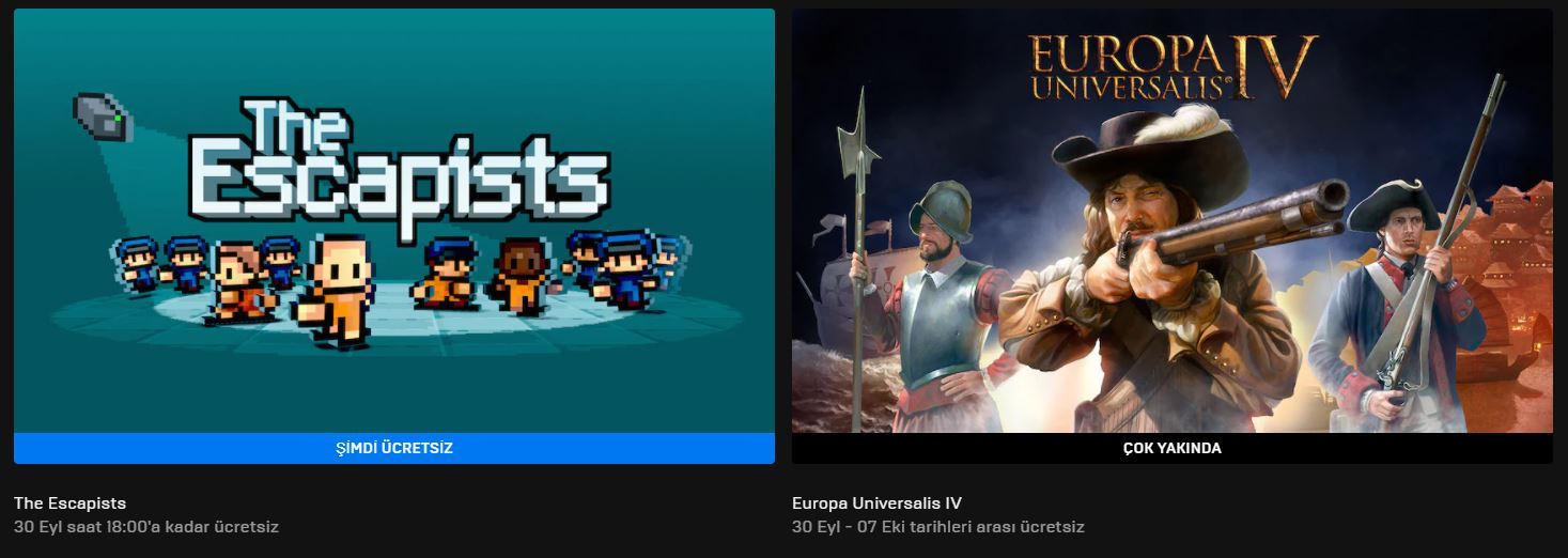 Epic Games'in Ücretsiz Oyunu Belli Oldu (23 Eylül)