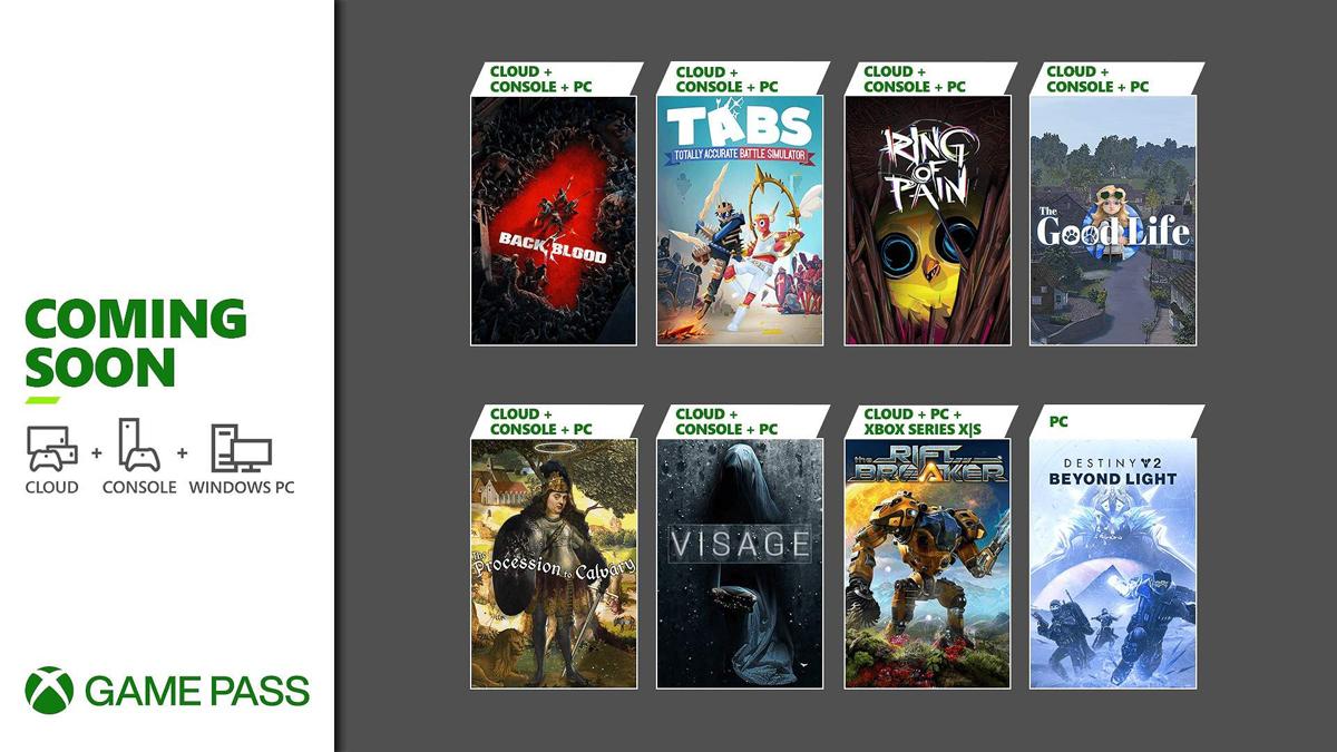 Xbox Game Pass Ekim 2021
